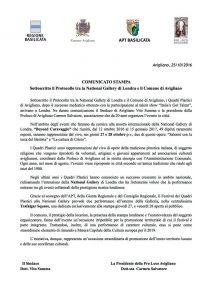 Protocollo comune di Avigliano e National Gallery